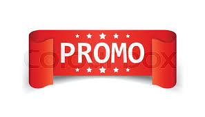discount ribbon promo ribbon vector icon discount sticker label on white