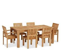 Teak Dining Tables And Chairs Madera Teak Rectangular Extending Dining Table Chair Set