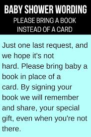 Gift Card Wedding Shower Invitation Wording Book Baby Shower Invitations U0026 Wording Ideas Cutestbabyshowers Com