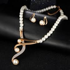 crystal pearl necklace set images 2017 elegant luxury jewelry set with crystals pearls necklace jpg