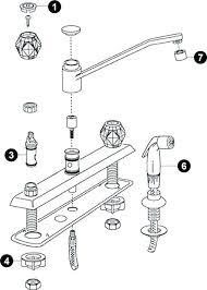 repairing moen kitchen faucet single handle moen kitchen faucet repair misschay