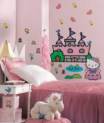 Wall Decals For Girl Nursery by Amazon Com Roommates Rmk1200gm Hello Kitty Princess Castle Peel