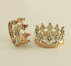 royal wedding ring crown two tone gold wedding ring set royal wedding rings
