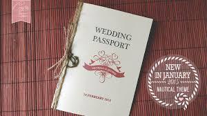 vintage nautical passport wedding card with anchor charm card