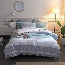 Cotton Queen Duvet Cover Amazon Com Merryfeel 100 Cotton Yarn Dyed Duvet Cover Set Full
