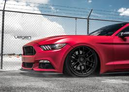 Red Mustang Black Wheels Ford Archives Velgen Wheels