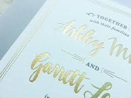 wedding invitations gold foil charm fig tagged gold foil