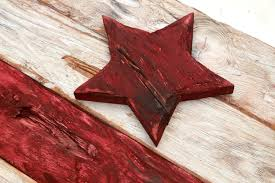 district of columbia flag weathered wood one of a kind wooden