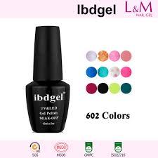 color gel ibdgel soak off uv gel nail polish 602 colors for choose