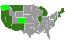 most beautiful us states state marijuana laws in 2018 map