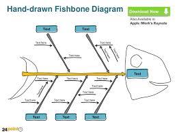 fishbone diagram line sketch powerpoint slides