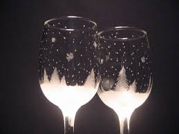 etched wine glass winter holiday christmas by wastedtalentdesigns
