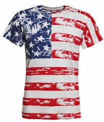 American Flag Suspenders American Flag Distressed Full Body T Shirt