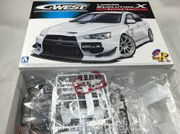 mitsubishi lancer evo 3 initial d aoshima 049006 1 24 s package ver r 43 c west lancer evolution x