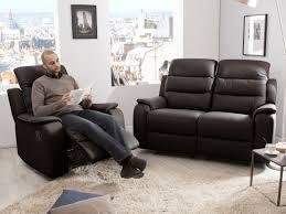 canapé relax cuir 2 places ensemble canapé 2 relax manuel 2 places fauteuil relax