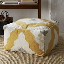 Pouf Coffee Table Pouf West Elm