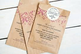 kraft paper wedding programs confetti program bag kraft paper personalized alternative