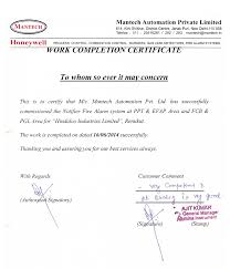 examples of certificates of completion project completion certificate format template examples