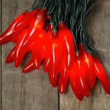 red chili pepper lights string lights chili pepper fiesta indoor outdoor 35 figural red bulb