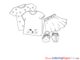skirt shirt children free coloring pages