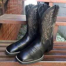 womens black square toe cowboy boots boots stock sale