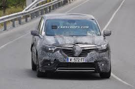 spied new renault espace mpv edging closer to paris show world
