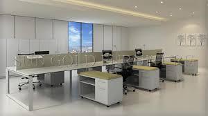 china modern open workstation white glossy minimalist office