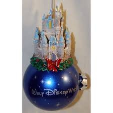 walt disney world castle on ornament blue home