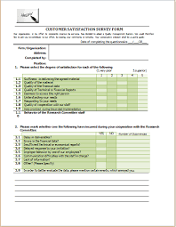 Microsoft Excel Form Templates Year Customer Survey Form Template Ms Word Word Excel