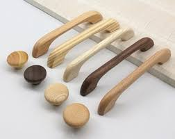 oak kitchen cupboard door knobs wood drawer pulls etsy