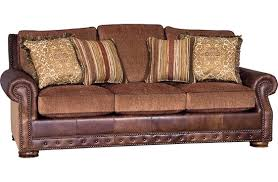 Leather And Upholstered Sofa Leather And Fabric Sofa Wagon Yard Furnishing Collectibles
