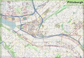 Map Of Pennsylvania Cities by Pittsburgh Maps Pennsylvania U S Maps Of Pittsburgh