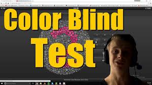 color blind test youtube