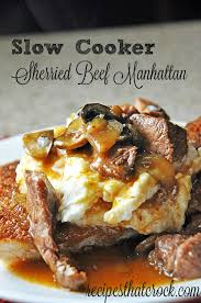 Main Dish Crock Pot Recipes - sherried beef manhattan crockpot recipes crockpot slowcooker