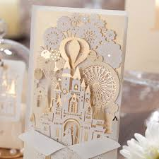 aliexpress com buy elegant silver pop up 3d invitation card