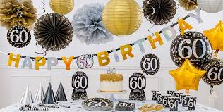 60th birthday party favors sparkling celebration 60th birthday party supplies party city canada