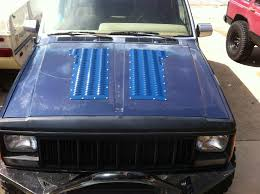 jeep mj build u2013 the report this image hood louvers jeep cherokee forum i ended up