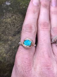 ring size 9 royston turquoise silver gold gold ring size 9 foo