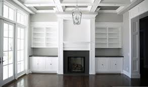 living room amazing raftsman style molding and built in cabinets