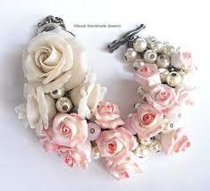 handmade flower bracelet images Plastic art art jewelry sculpture flowers weddings bracelet jpg