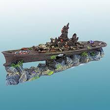 cool penn plax sunken battleship aquarium decoration aquarium