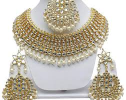 indian bridal necklace images Indian bridal jewelry etsy jpg