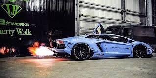 Lamborghini Murcielago Drift Car - ridiculous flames shooting out of the exhaust of liberty walk u0027s