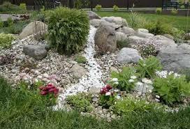 River Rock Garden Bed Rock Garden Landscaping Pictures Autour