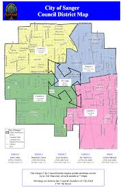 Los Angeles City Council District Map by Sanger California Map California Map