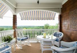 Striped Awning Add Decors To Your Exterior With 20 Awning Ideas Home Design Lover