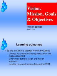 objectives of mission statement mph mission vision goals objectives goal strategic management