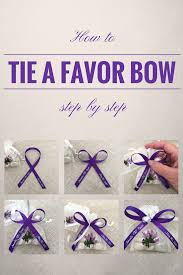favor ribbons how to tie a bow with favor ribbon simple step by step
