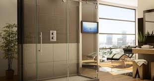 Rona Glass Shower Doors by Shower Frameless Tub Shower Doors Miraculous Frameless Glass
