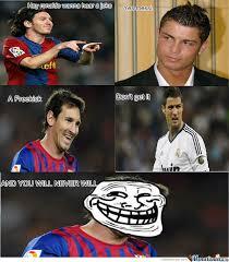 Funny Messi Memes - messi troll ronaldo by xxxmoudixxx meme center